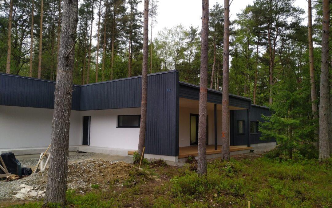 Alliku külas uue eramu ehitus